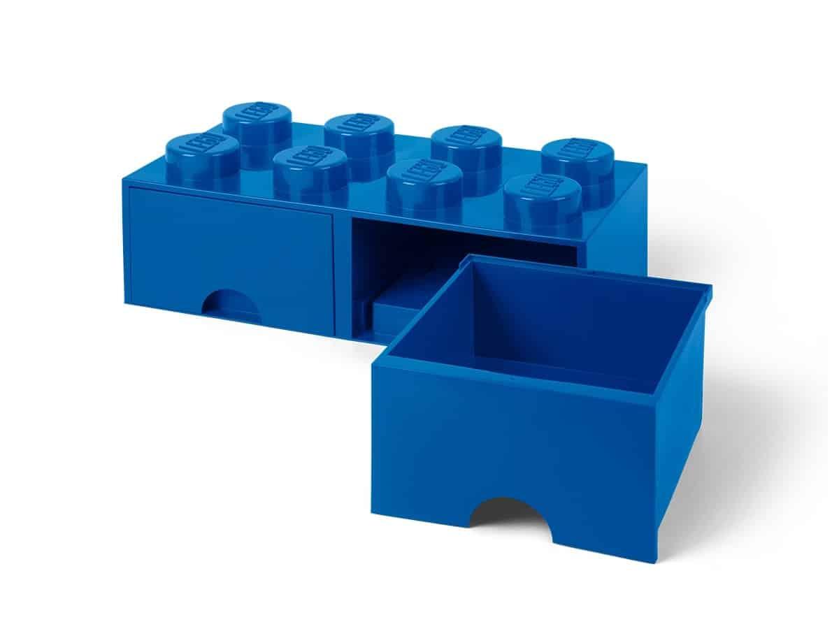 lego 5006143 blauwe opbergsteen met 8 noppen
